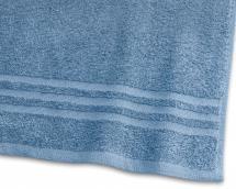 Serviette de bain Basic Éponge - Bleu medium 65x130 cm