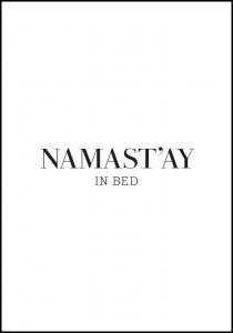 namast'ay in bed Poster