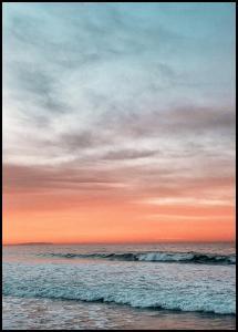 Waves Under Sunset Poster