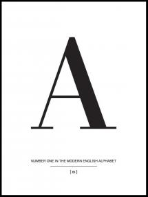 Letter A Poster