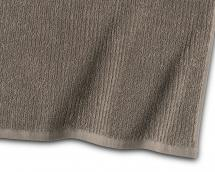 Essuie-main Stripe Éponge - Brun 50x70 cm