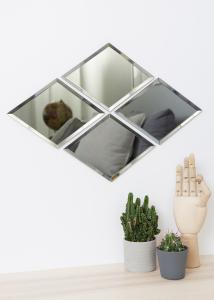 Miroir House Doctor Diamond Gris 16x22 cm