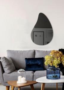 Miroir Slim Drop Warm Grey 80x55 cm