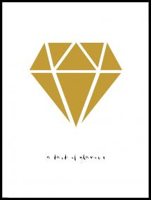Diamant - Or Poster