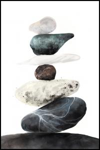 Stones from the beach Poster