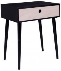 Table de chevet Parma 32x45 cm - Noir/Bois