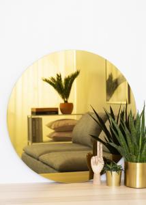 KAILA Miroir rond Gold 80 cm Ø