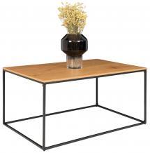 Table basse Vita 60x90 cm - Noir/Chêne