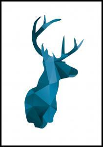 Deer - Blå Poster