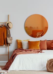 Miroir Slim Orange 90 cm Ø