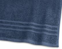 Draps de bain Basic Éponge - Bleu marine 90x150 cm
