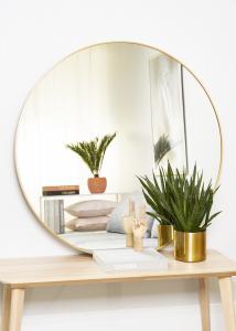 KAILA Miroir rond Edge Gold 110 cm Ø