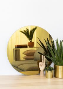 KAILA Miroir rond Gold 60 cm Ø