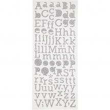 Focus Glitterstickers Argent Letters