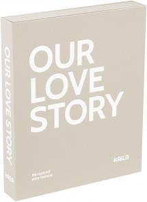 KAILA OUR LOVE STORY Grey - Coffee Table Photo Album (60 Pages Noires)