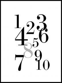 1-10 - Noir/gris Poster