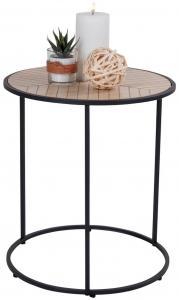 Table d'appoint Bergamo 40x40 cm - Noir