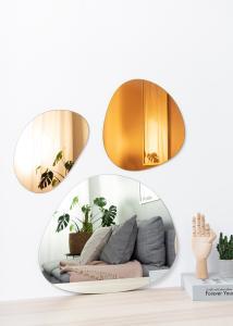 Miroir Set Orange, Rose Gold & Clear - 3 unités