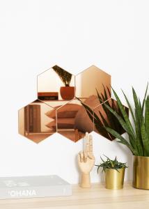 KAILA Miroir Hexagon Rose Gold 18x21 cm - 5-pack