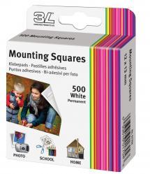 3L Mounting Squares 500 unités